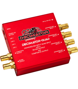 Decimator-Quad is a 3G/HD/SD-SDI Quad Split