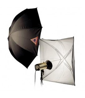 PHOTOFLEX UMBRELLA WHITE BLACK 45""