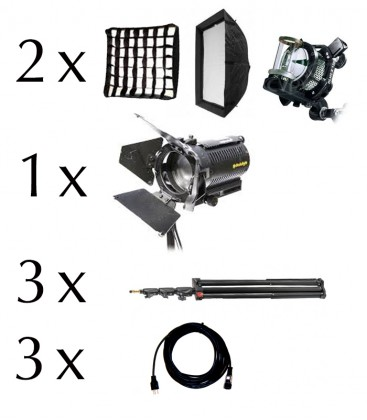 VISUALS 3 LIGHT INTERVIEW KIT (TUNGSTEN)
